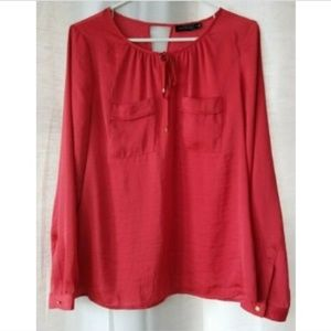 The Limited medium long sleeve coral red shirt